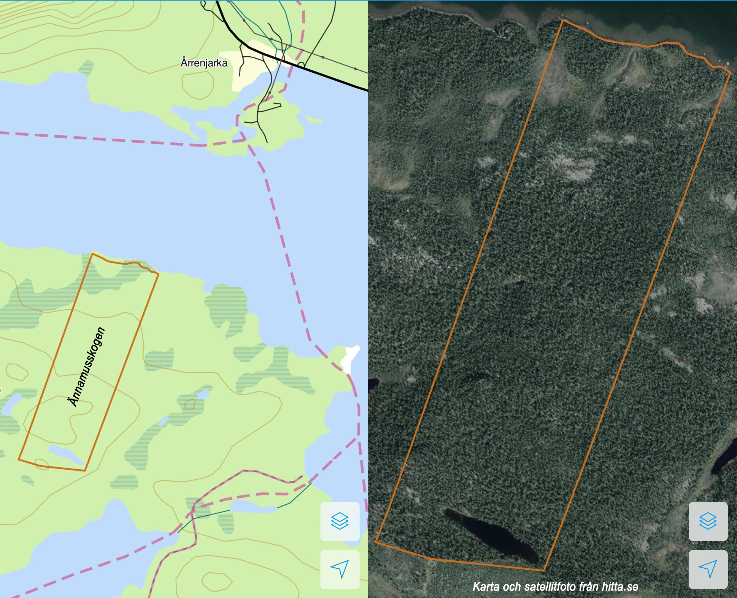 Ännamusskogen Karta